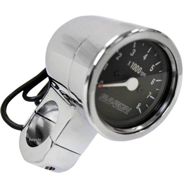 【USA在庫あり】 バロン BARON 電子タコメーター 8000rpm 1.5インチ(38mm)ハンドルパー 黒 2211-0083 HD店