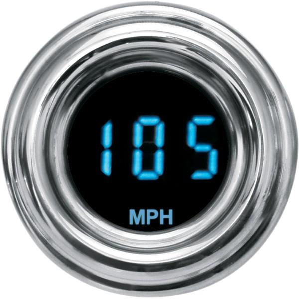 【USA在庫あり】 ダコタデジタル Dakota Digital スピードメーター(MPH) 4000ミニ レトロ 青 2210-0063 HD店