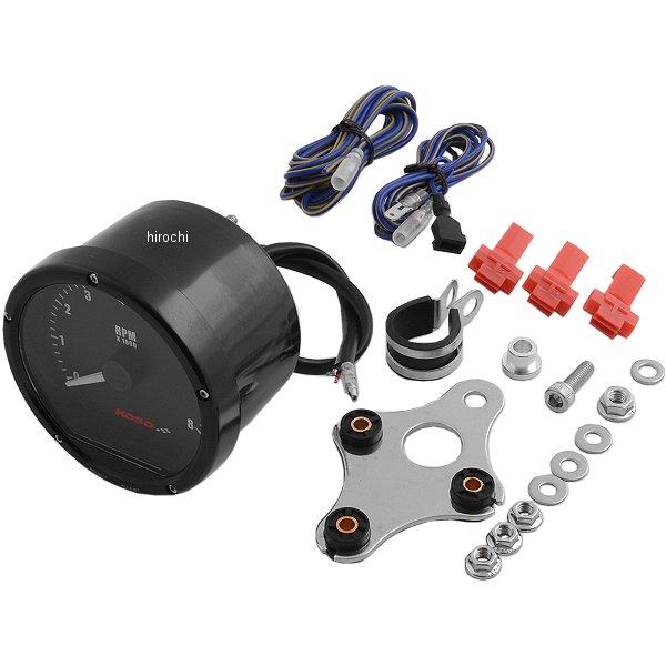 【USA在庫あり】 コソ KOSO 電子タコメーター(0-8000) ハーレー用 黒/黒 2211-0138 HD