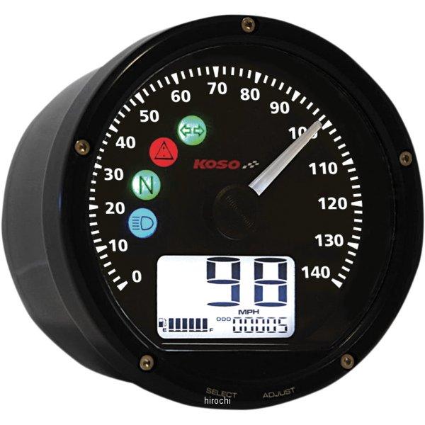 【USA在庫あり】 コソ KOSO TNT-01S マルチ スピードメーター 黒/黒 2210-0361 HD店