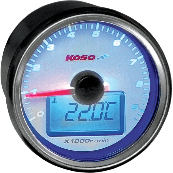 【USA在庫あり】 コソ KOSO タコメーター/気温 GP 白 2211-0077 HD