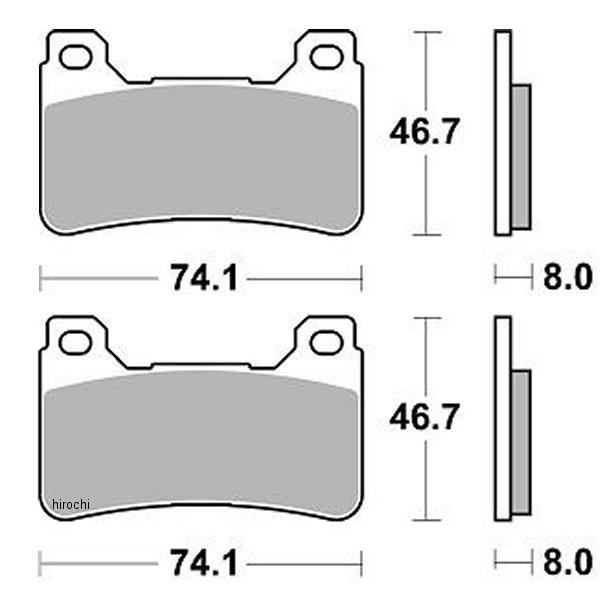 【USA在庫あり】 ブレーキング BRAKING ブレーキパッド フロント 04年-13年 CBR1000RR、CB1000R (CM66 セミメタル) 1721-0667 HD店