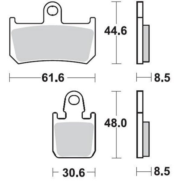 【USA在庫あり】 ブレーキング BRAKING ブレーキパッド フロント 07年-14年 YZF-R1 (CM66 セミメタル) 1721-0766 HD