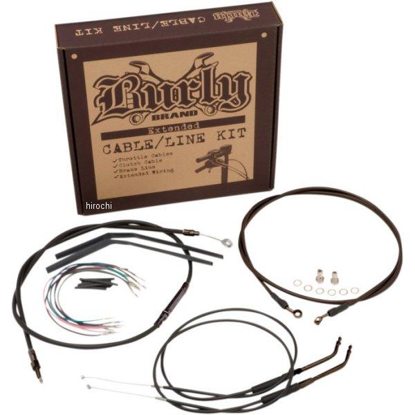 【USA在庫あり】 バーリーブランド Burly Brand ケーブル キット 黒 12年以降 FXD(ABS) 16インチ 0610-1668 HD
