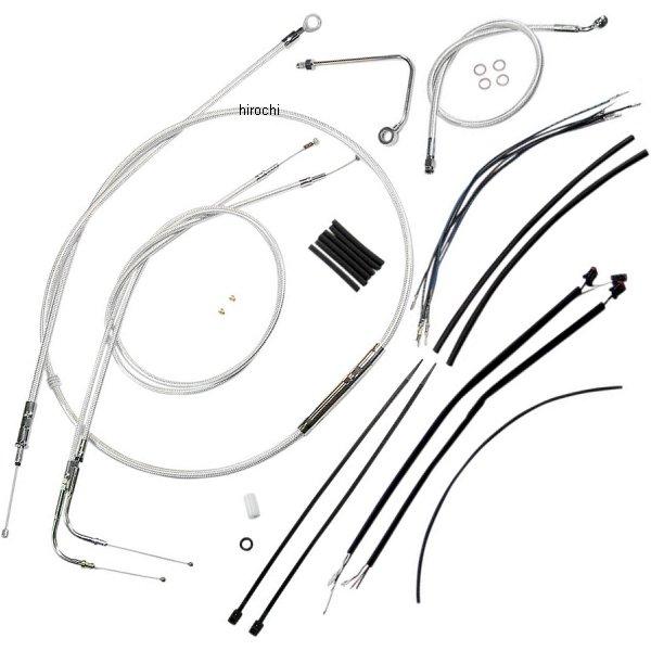【USA在庫あり】 マグナム MAGNUM ケーブル キット クローム 11年-13年 FXS ABS付き ロワーホース無し 12-14インチ エイプバー用 0662-0028 HD店