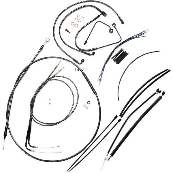 【USA在庫あり】 マグナム MAGNUM ケーブル キット 黒 15年 FLSTC、FLSTF、FLSTN、FLS ABS付き 15-17インチ エイプバー用 0662-0056 HD店