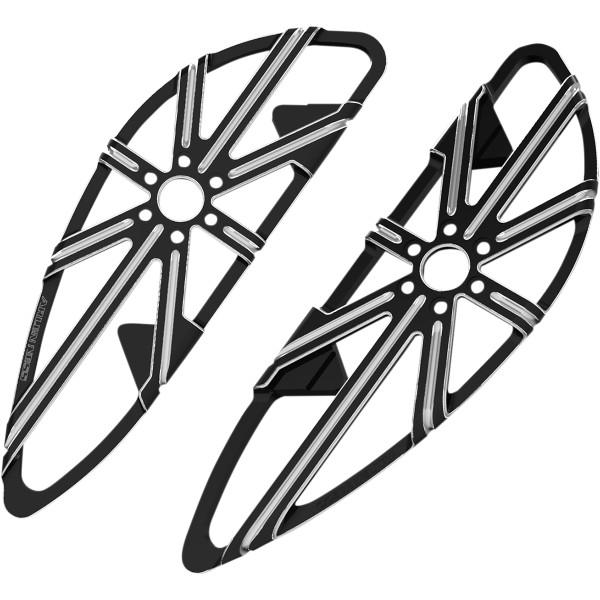 【USA在庫あり】 アレンネス Arlen Ness ドライバーフットボード 10-ゲージ 黒 1622-0517 HD店