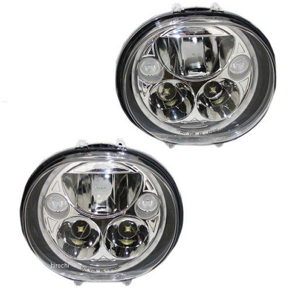【USA在庫あり】 カスタム ダイナミクス LED ヘッドライト 5.75インチ 04年-13年 FLTR クローム(左右ペア) 2001-1261 HD店