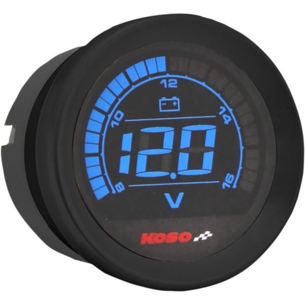 【USA在庫あり】 コソ KOSO 電圧計 2インチ(51mm) 04年-13年 黒 2212-0604 HD