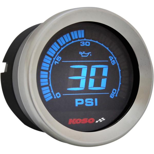 【USA在庫あり】 コソ KOSO 油圧計 2インチ(51mm) 04年-13年 クローム 2212-0605 HD