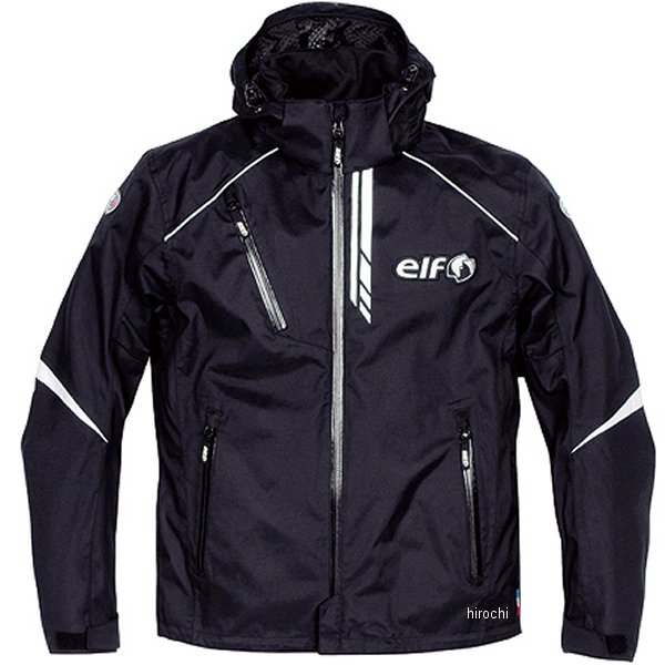エルフ elf 2017年春夏モデル ウォータープルーフフーデッドブルゾン 黒 LLサイズ EL-7228 HD店