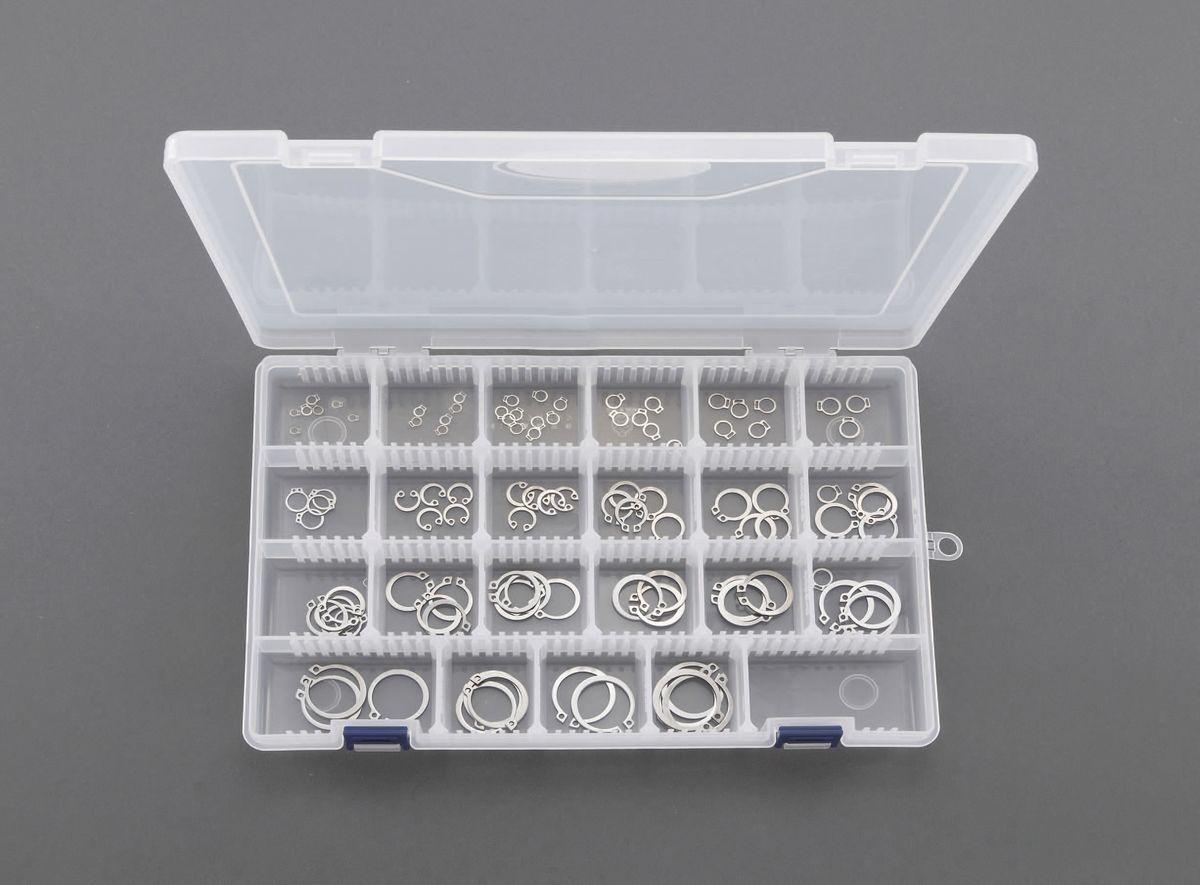 【メーカー在庫あり】 エスコ ESCO 3.2-25mm 軸用スナップリングセット ステンレス 000012232120 HD店