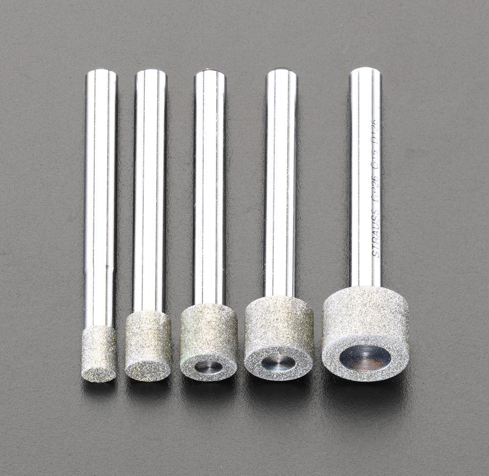 【メーカー在庫あり】 エスコ ESCO 5本組/6mm軸 ダイヤモンドバーセット 000012007196 HD店