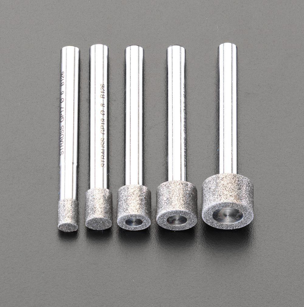 エスコ ESCO 5本組/6mm軸 ダイヤモンドバーセット 000012007199 HD店
