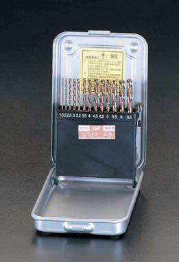【メーカー在庫あり】 エスコ ESCO 1.5-6.5mm ドリルセット 13本組/Co-HSS 000012020986 HD店
