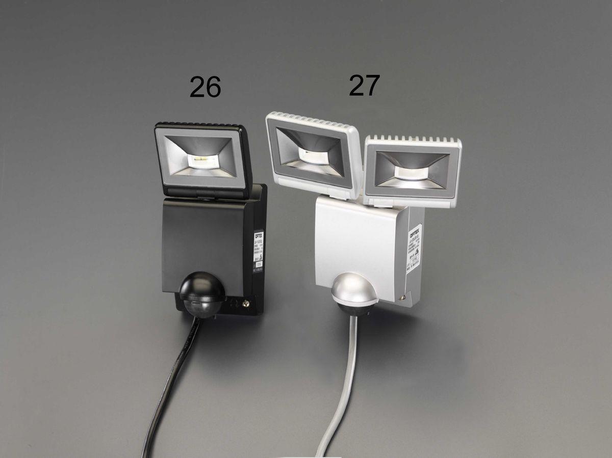 【メーカー在庫あり】 エスコ ESCO AC100V/22W LEDセンサーライト 2灯 000012264651 HD店