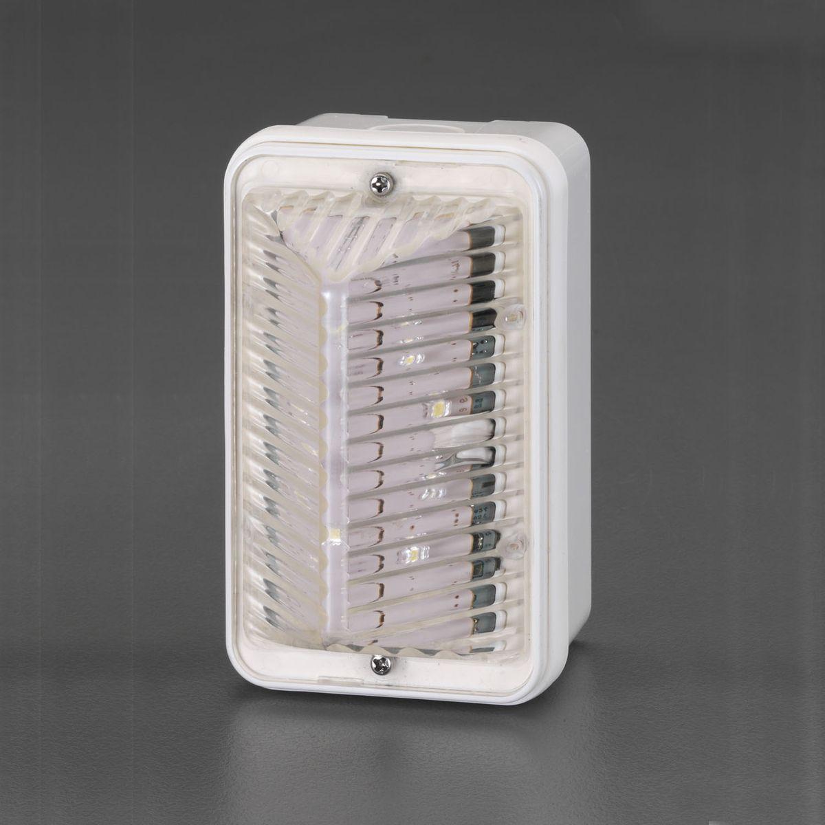 【メーカー在庫あり】 エスコ ESCO AC100V LED点滅灯 ホワイト 000012241416 HD店