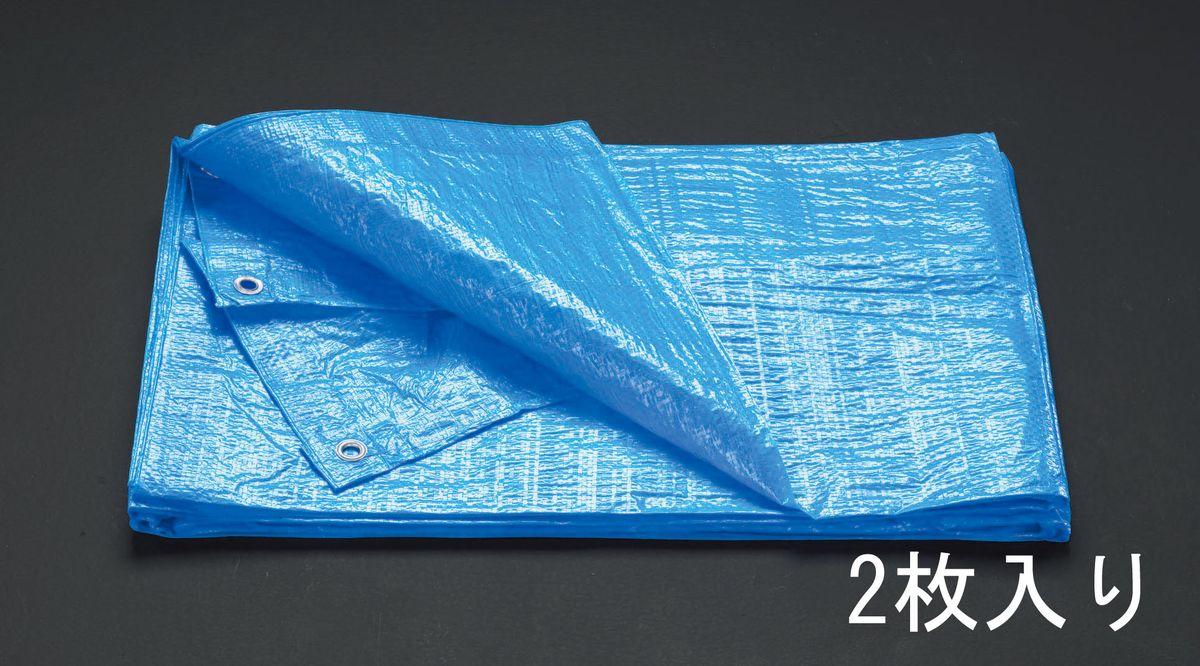 【メーカー在庫あり】 エスコ ESCO 10 x 10m ブルーシート #1500/2枚 000012069971 HD店
