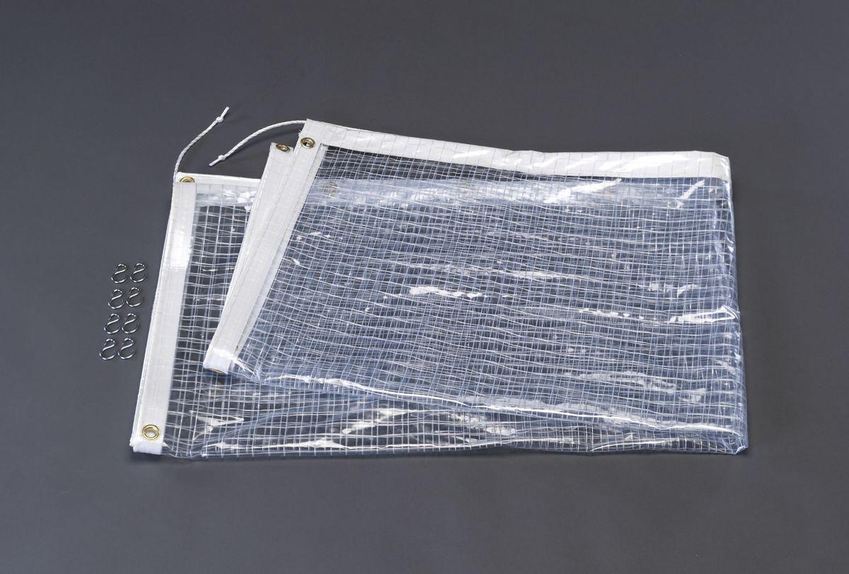【メーカー在庫あり】 エスコ ESCO 2.0x2.0m ハトメ付防風シート 000012215945 HD店