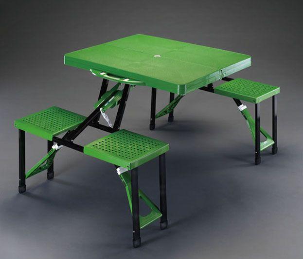 【メーカー在庫あり】 エスコ ESCO 865x670x660mm テーブル・チェアーセット 000012201442 HD店