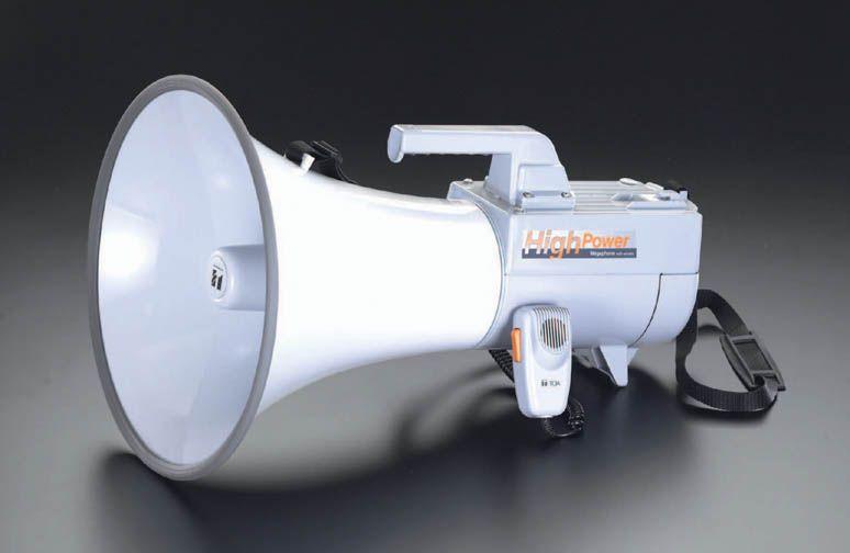 【メーカー在庫あり】 エスコ ESCO 30W メガホン ショルダー型 000012070021 HD店