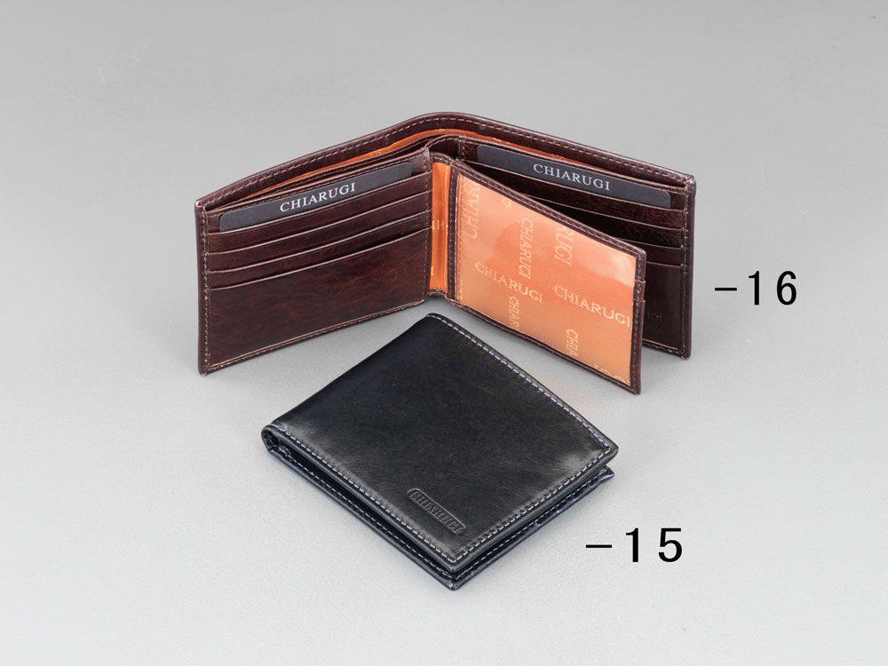 エスコ ESCO 110x92x20mm 札入れ 本革製/ブラック 000012247251 HD店