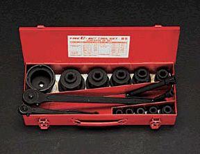 エスコ ESCO M10-M50 ファインナットレンチセット 000012060405 HD店