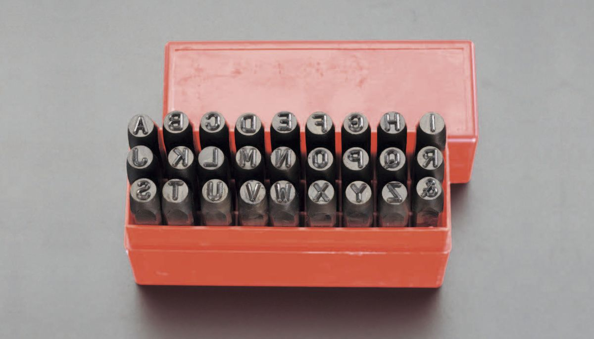 【メーカー在庫あり】 エスコ ESCO 4mm 英字刻印セット 000012014791 HD店