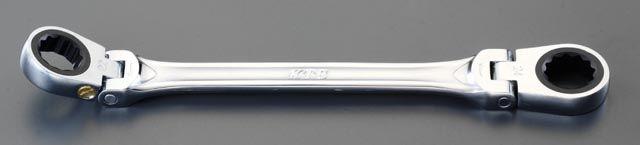 【メーカー在庫あり】 エスコ ESCO 14x17mm 首振り型ラチェットメガネ 000012086555 HD店
