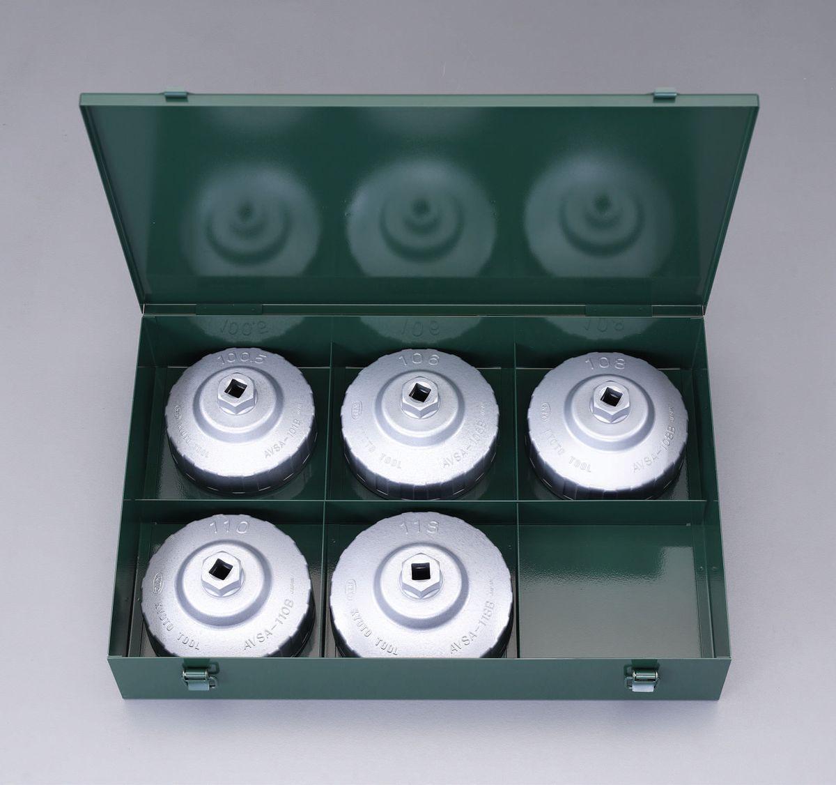 【メーカー在庫あり】 エスコ ESCO 5個組 カップ型オイルフィルターレンチセット 000012226397 HD店