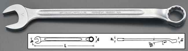 【メーカー在庫あり】 エスコ ESCO 32mm 片目片口スパナ(ロング) 000012226637 HD店