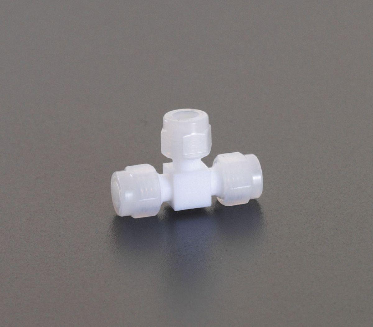 【メーカー在庫あり】 エスコ ESCO 12mm ユニオン(ティー /フッ素樹脂製) 000012206469 HD