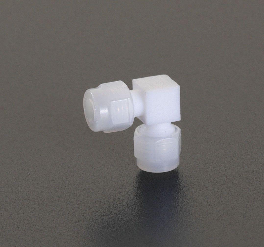 【メーカー在庫あり】 エスコ ESCO 12mm ユニオン(エルボ/フッ素樹脂製) 000012206474 HD