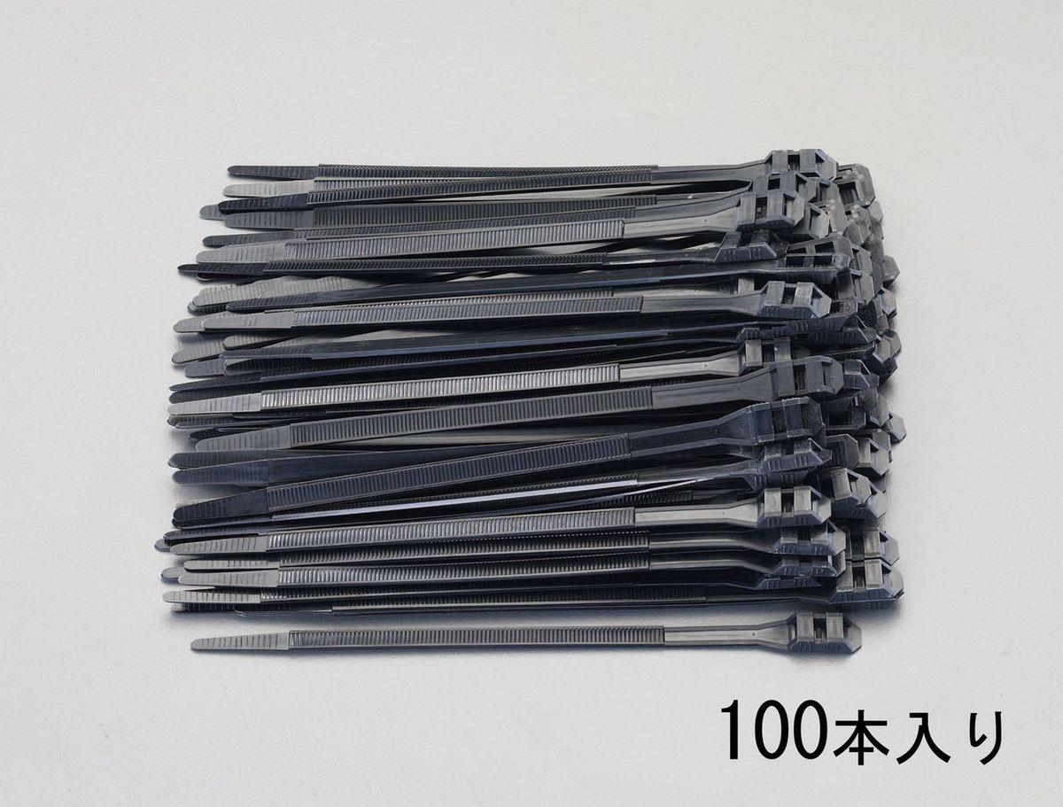【メーカー在庫あり】 エスコ ESCO 760x 9.0mm 結束バンド(ダブルロッキング/100本) 000012097003 HD