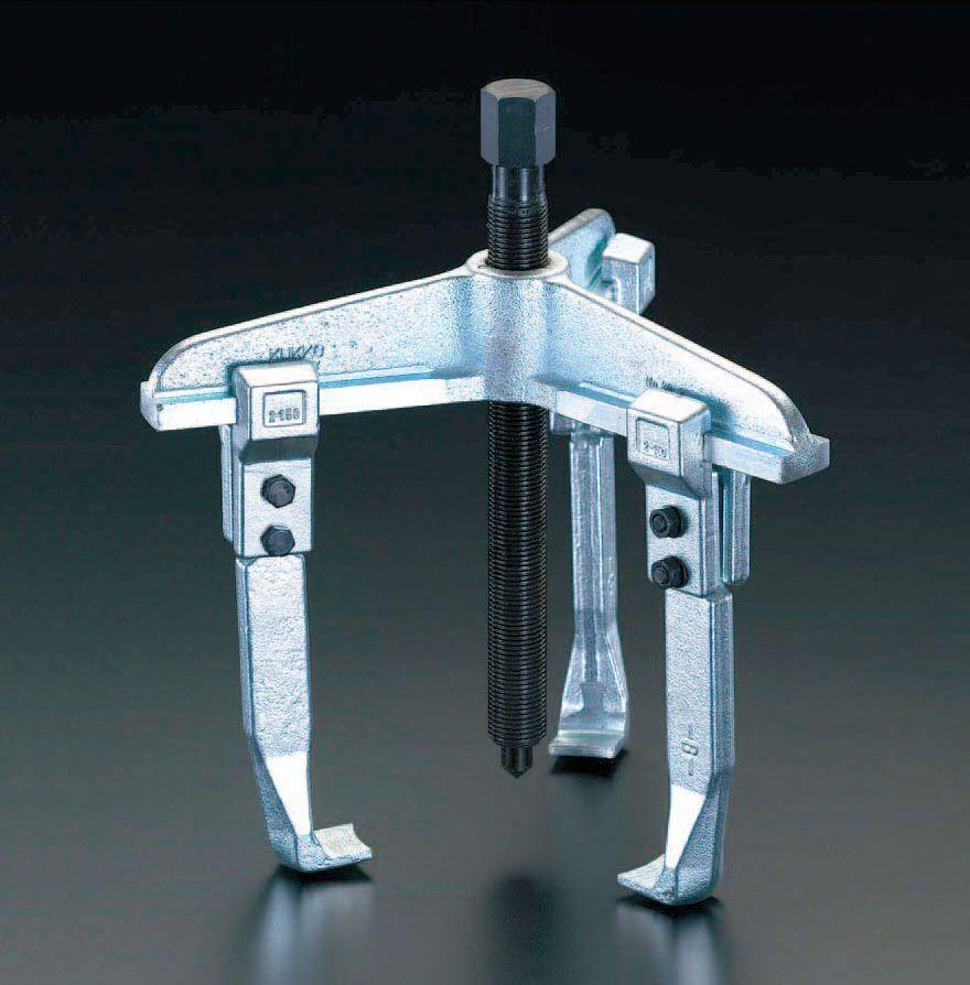 【メーカー在庫あり】 エスコ ESCO 200mm スライドアームプーラー(3本爪) 000012011457 HD