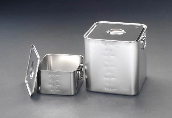 【メーカー在庫あり】 エスコ ESCO 200x200x200mm 深型BOX(ステンレス/目盛り付) 000012085383 HD