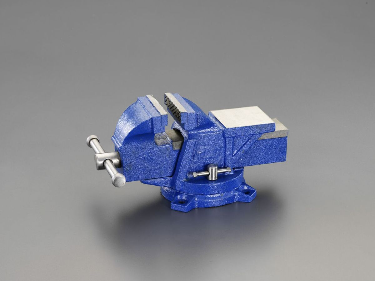 【メーカー在庫あり】 エスコ ESCO 125mm ベンチバイス(回転台付) 000012235389 HD