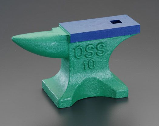 エスコ ESCO 440mm/ 50kg 鋳鉄製 角型金床 000012078046 HD