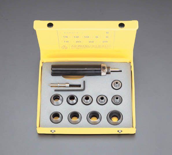【メーカー在庫あり】 エスコ ESCO 5-25mm 革ポンチセット(10個組) 000012027517 HD店