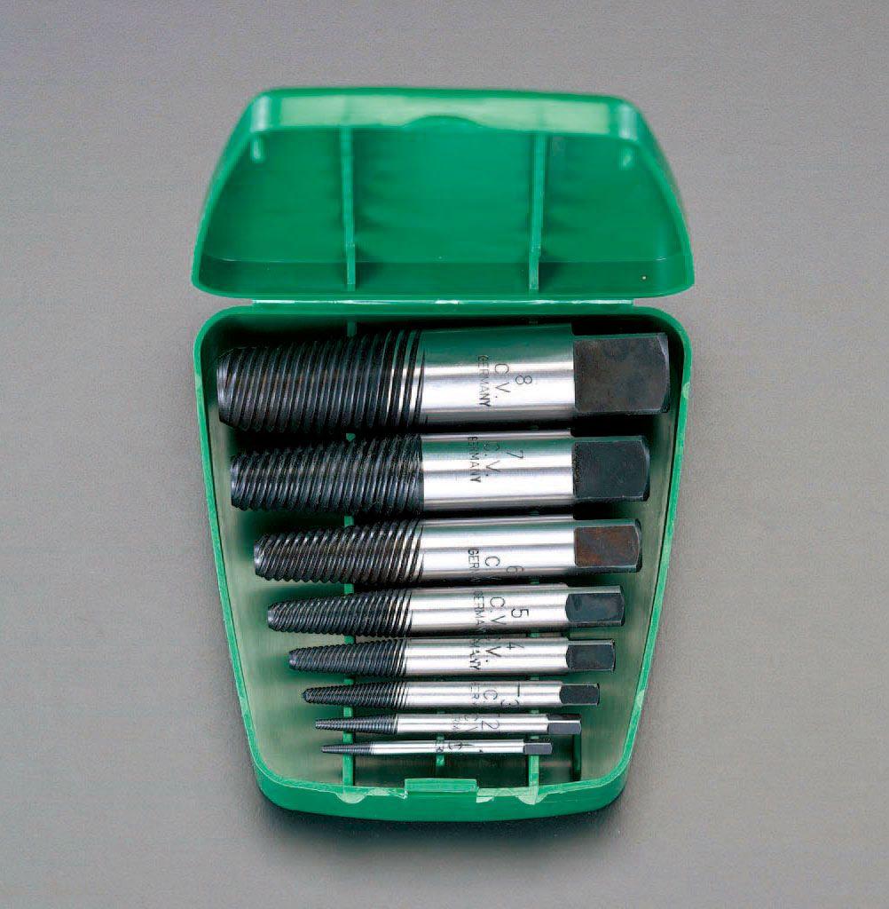 【メーカー在庫あり】 エスコ ESCO M 3-M45 8本組スクリューエキストラクター 000012013841 HD店