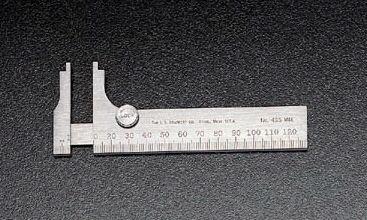 エスコ ESCO 100mm ポケットノギス(ステンレス製) 000012035502 HD店