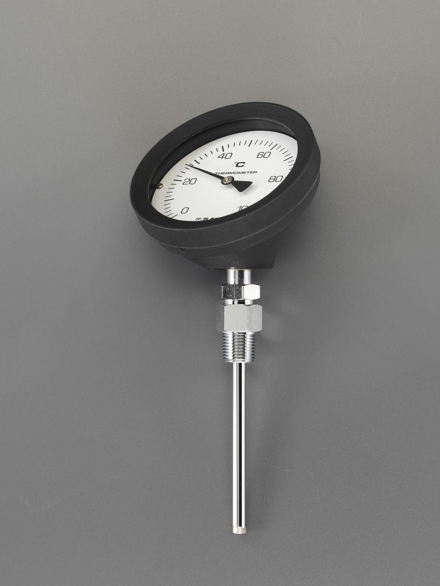 【メーカー在庫あり】 エスコ ESCO 0- 50℃/100mm バイメタル式温度計 000012263801 HD店