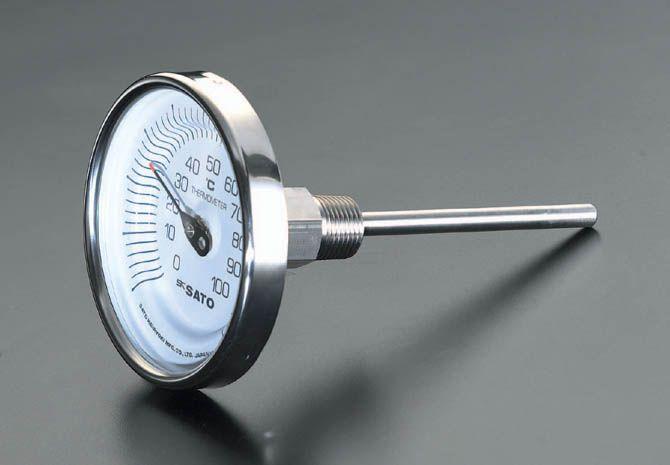 【メーカー在庫あり】 エスコ ESCO 0-100℃/200mm バイメタル式温度計 000012068908 HD店