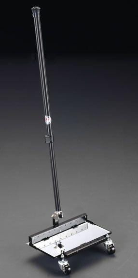 【メーカー在庫あり】 エスコ ESCO 140x290mm 大型点検ミラー(LEDライト キャスター付) 000012088201 HD店