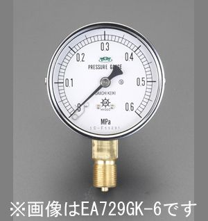 【メーカー在庫あり】 エスコ ESCO 100mm/0-3.0MPa 圧力計(耐脈動圧型) 000012080142 HD店