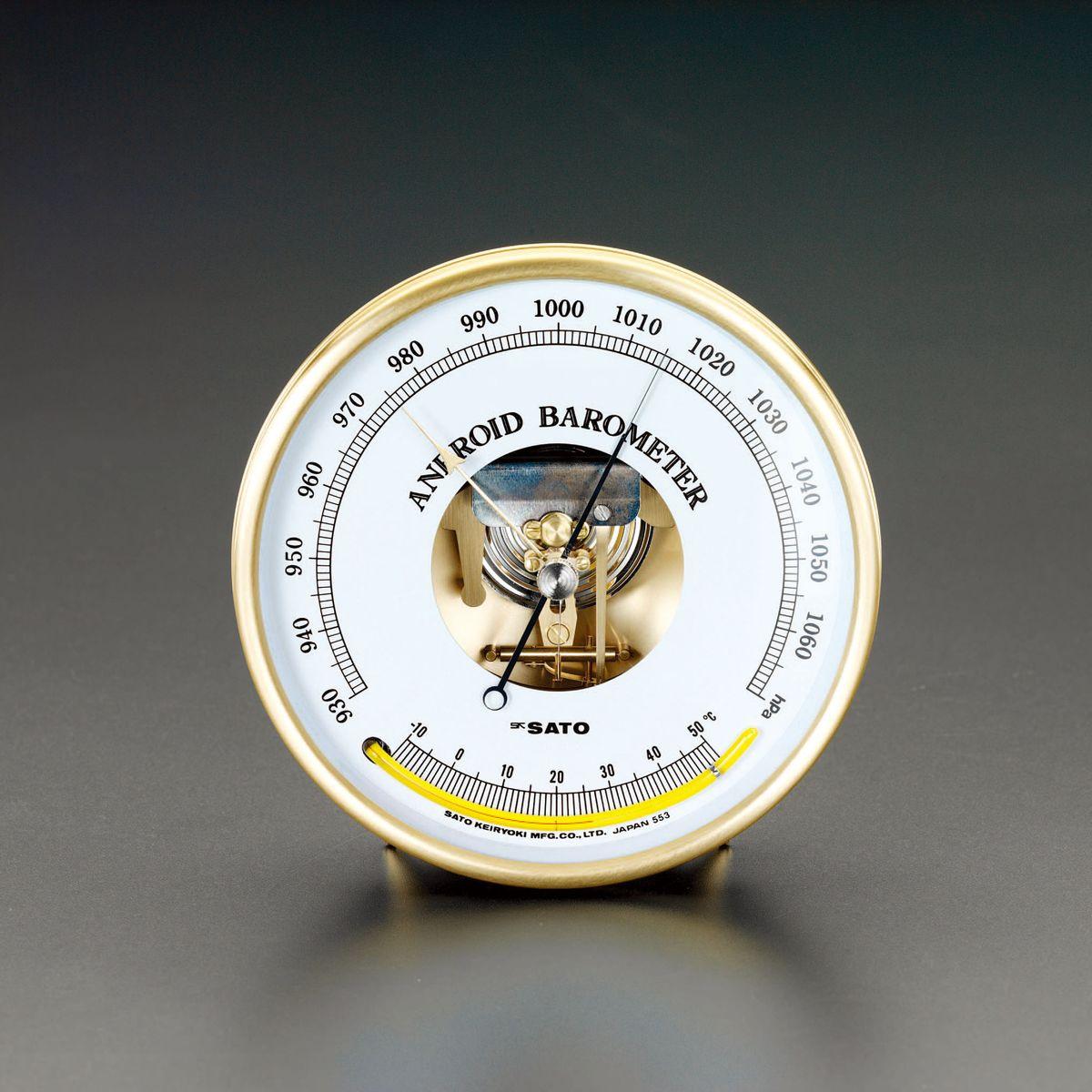 【メーカー在庫あり】 エスコ ESCO φ158x50mm 気圧計 000012200082 HD店