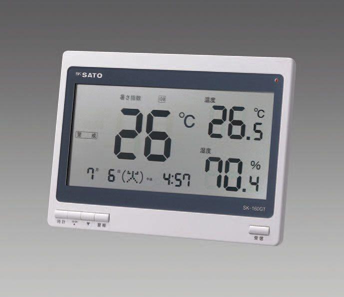 【メーカー在庫あり】 エスコ ESCO 熱中症暑さ指数計(電波時計付) 000012220190 HD店