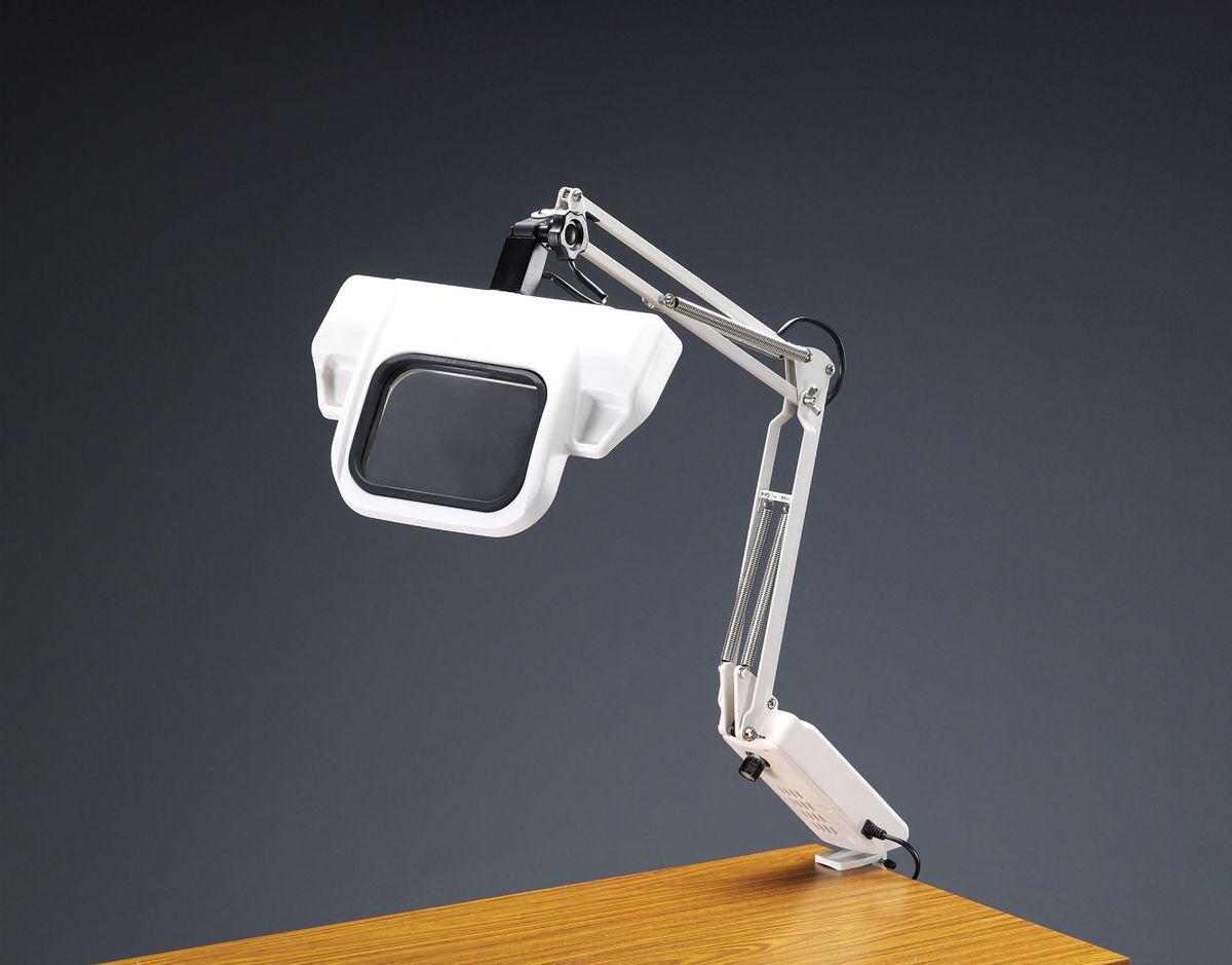 【メーカー在庫あり】 エスコ ESCO x2.0/144x108mm 拡大鏡(LEDライト付) 000012235671 HD店
