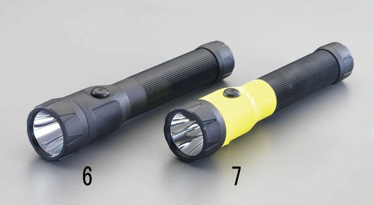 【メーカー在庫あり】 エスコ ESCO 充電式 フラッシュライト/LED(黒) 000012223324 HD店