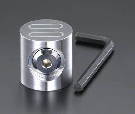 【メーカー在庫あり】 エスコ ESCO 80x65mm 一面吸着マグネットチャック 000012254183 HD